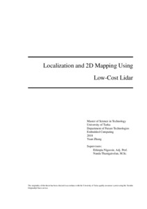 Localization and 2D Mapping Using Low-Cost Lidar