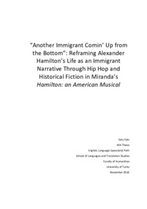"""Another Immigrant Comin' Up from the Bottom"""": Reframing Alexander"""