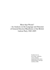More than Words? - An Analysis on the Language and Structure of