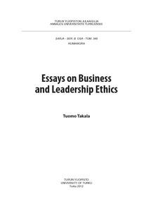 essays on business and leadership ethics annalesbtakaladisspdfjpgsequenceisallowedy