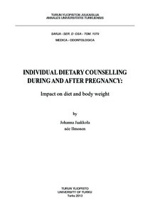INDIVIDUAL DIETARY COUNSELLING DURING AND AFTER PREGNANCY: