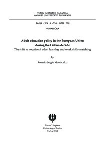 Adult education policy in the European Union during the