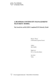 Iso 22301 maturity model
